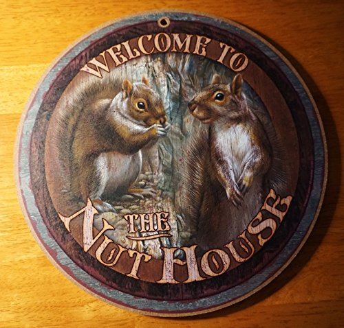 Welcome To The Nut House Squirrel Rustic Lodge Log Cabin Home Decor Sign