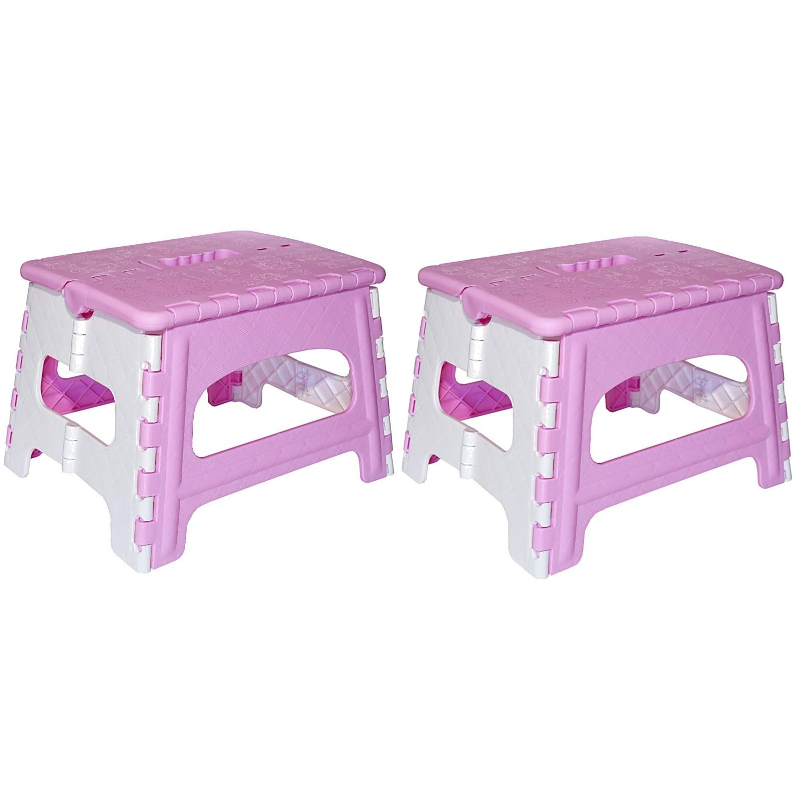 Green Direct Kids Step Stool – A Great Adult Bedside Step Stool – The Ideal folding Step Stool (Pink), 2 Count