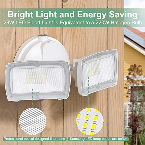 Solar Lights Outdoor with Motion Sensor,3 Heads 74LEDs Solar Flood Light IP65 Waterproof, Adjustable 360 Wide Angle Illumination for Garage,Garden,Patio,Yard,Pathway