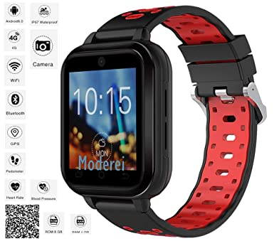 Finow Q1 Pro Android Smart Watch 4G 1.54 Inch Touch Screen Pedometer Red: Amazon.es: Relojes