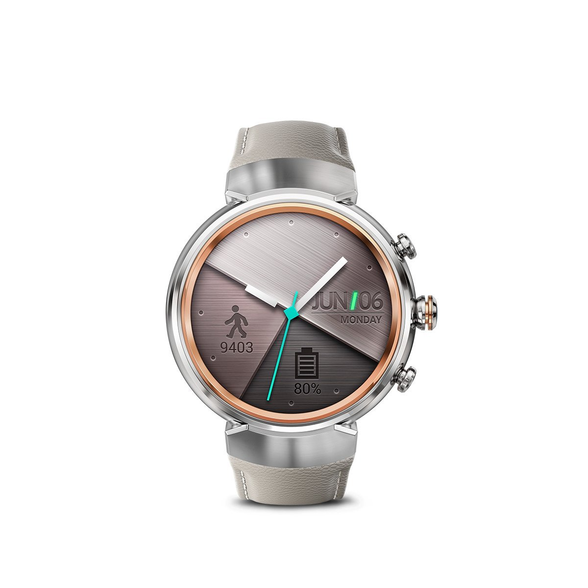 Asus ZenWatch 3 Smartwatch Silver/Beige WI503Q-SL-BG-BB ...