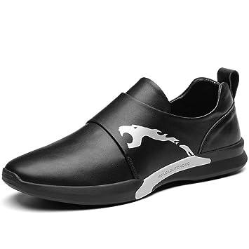 Zapatos Casual para Hombre Primavera/Otoño/Invierno Comfort Mocasines y Slip-Ons Calzado Diario para Hombres Zapatos de Conducción (Color : Negro, ...