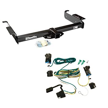 draw tite 75189 118392 class 3 trailer hitch and tekonsha electrical wiring tow harness t connector for chevrolet express and gmc savana 1500 and 2500 Land Rover Trailer Wiring Harness