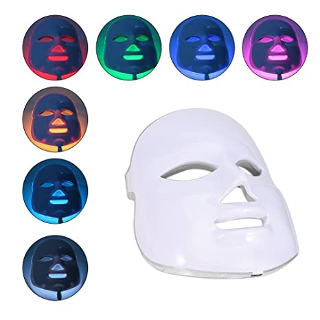 Máscara De La Terapia, Kapmore Photodynamic LED Facial Beauty Instrument Anti Acné Skin Care Therapy Máscara: Amazon.es: Belleza