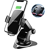 Youstoo 7.5w/10w Qi Fast Charging Car Phone Holder Compatible with iPhone Xs/Xs Max/XR/X/ 8/8 Plus, Samsung Galaxy S10 /S10+/S9