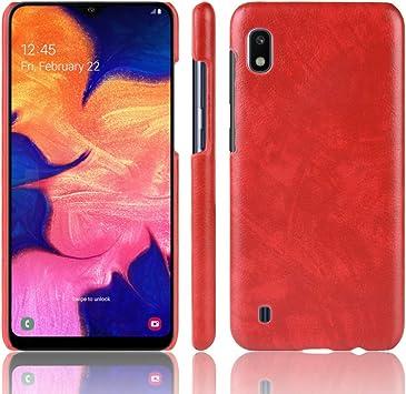 Coque Funda Samsung Galaxy A10,Textura de Lichi Carcasa de ...
