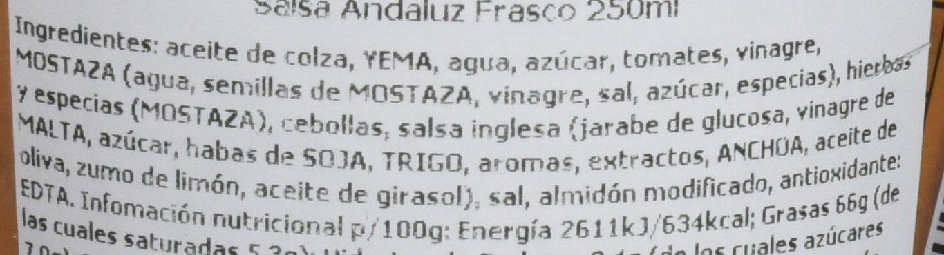 Didden Salsa Andaluz - Paquete de 6 x 250 ml - Total: 1500 ml: Amazon.es: Alimentación y bebidas