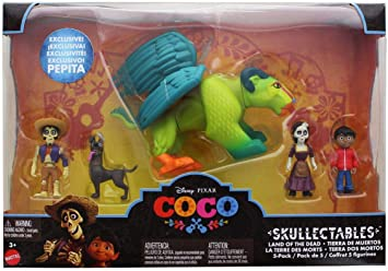CoCo Disney Pixar Skullectables Land of The Dead Mattel 5 Pack ...