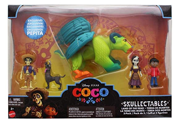 Amazon.com: Disney/Pixar Coco Skullectables Land of The Dead 2-Inch Mini Figure 5-Pack: Toys & Games
