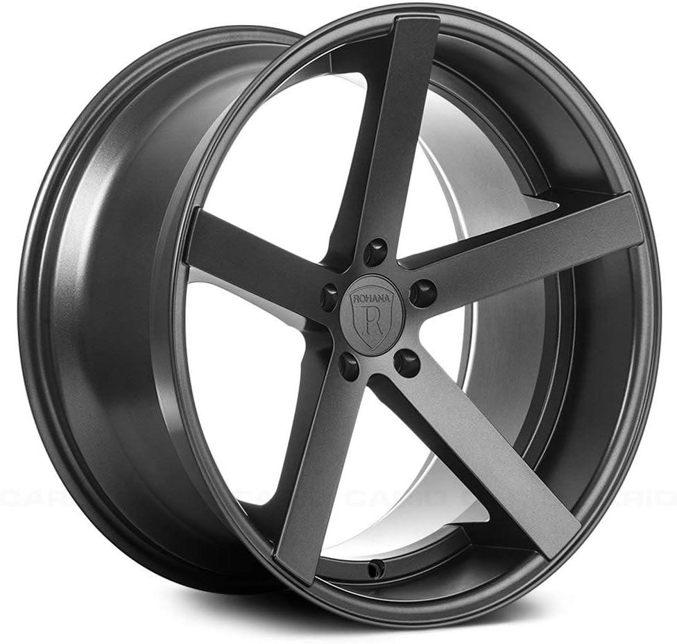Rohana Wheels RC22 Wheel Diameter: 20 Size: 20x10 ET35 Offset: ET35 Bore: Bolt Pattern: 5x114.3 Matte Graphite RC2220105114MG35