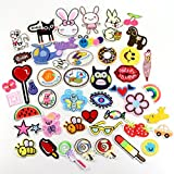 24pcs Randomly Embroidered Fabric Iron on Cartoon Sticker Patches/badges for Kids Clothing