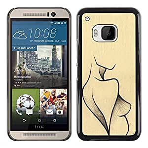 Exotic-Star ( Fashion Art Woman Sexy Ink ) Fundas Cover Cubre Hard Case Cover para HTC One M9