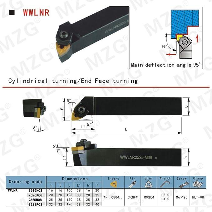 WWLNR3232P08 CNC Turning Lathe Machining Boring Cutter External Tool holders