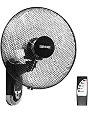 Duronic Wall Mounted Fan FN55 | Oscillating/Rotating | 3 Speeds | Remote Control | 16 Inch Head | Timer Function | Electric 60W | Cooling for Summer in The Home/Office