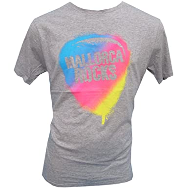 2144d8e95 Mallorca Rocks Men s Slogan T Shirt Extra Hot
