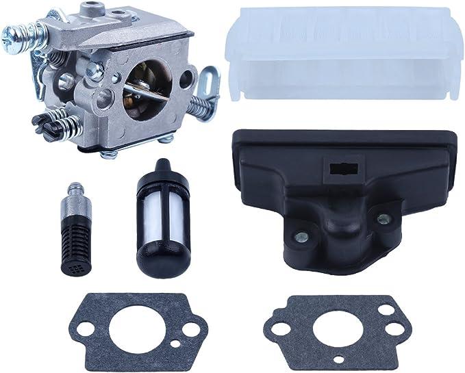Haishine carburador Aire Aceite Combustible Filtro con 2pc Kit de Juntas de carburador para Stihl 021 023 025 MS210 MS230 MS250 Repuestos de Motosierra