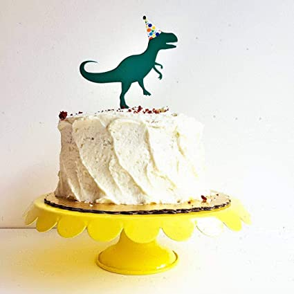 Birthday Dinosaur Acrylic Cake Topper For Any Party