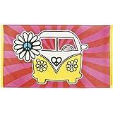 Générique Drapeau Hippie Flower Power 90 x 150 cm
