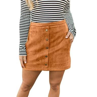 Gusspower-faldas mujer Corta Elegantes Faldas Mini Mujer ...
