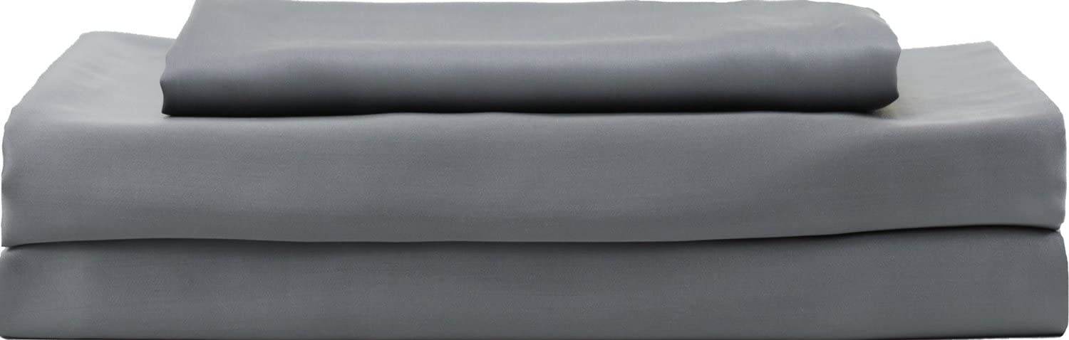 Hotel Sheets Direct Luxury 100% Bamboo Bed Sheet Set - Eco-Friendly, Hypoallergenic, Cooling Sheets. Bamboo 3 Piece Bed Sheet Set (Twin XL, Dark Gray)