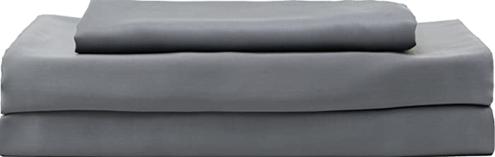 Hotel Sheets Direct Luxury 100% Bamboo Bed Sheet Set - Eco-Friendly, Hypoallergenic, Cooling Sheets. Bamboo 4-Piece Bed Sheet Set (California King, Dark Gray)