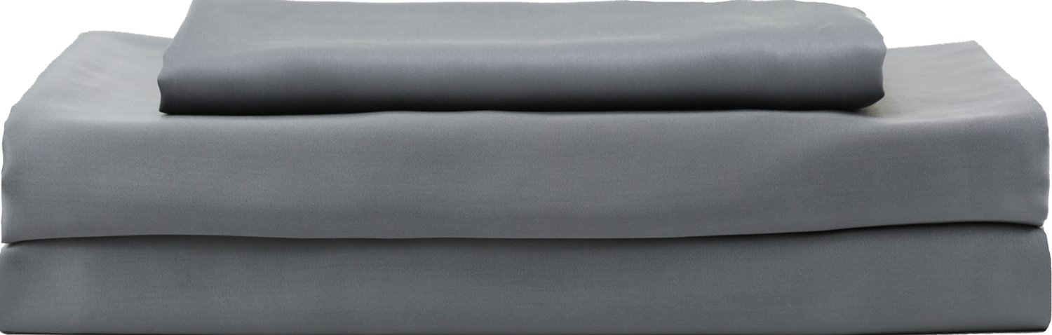 HotelSheetsDirect 100% Bamboo Bed Sheet Set, Cooling Sheets, Moisture Wicking, Great for Hot Sleepers, Softer Than Silk (Twin, Dark Gray)