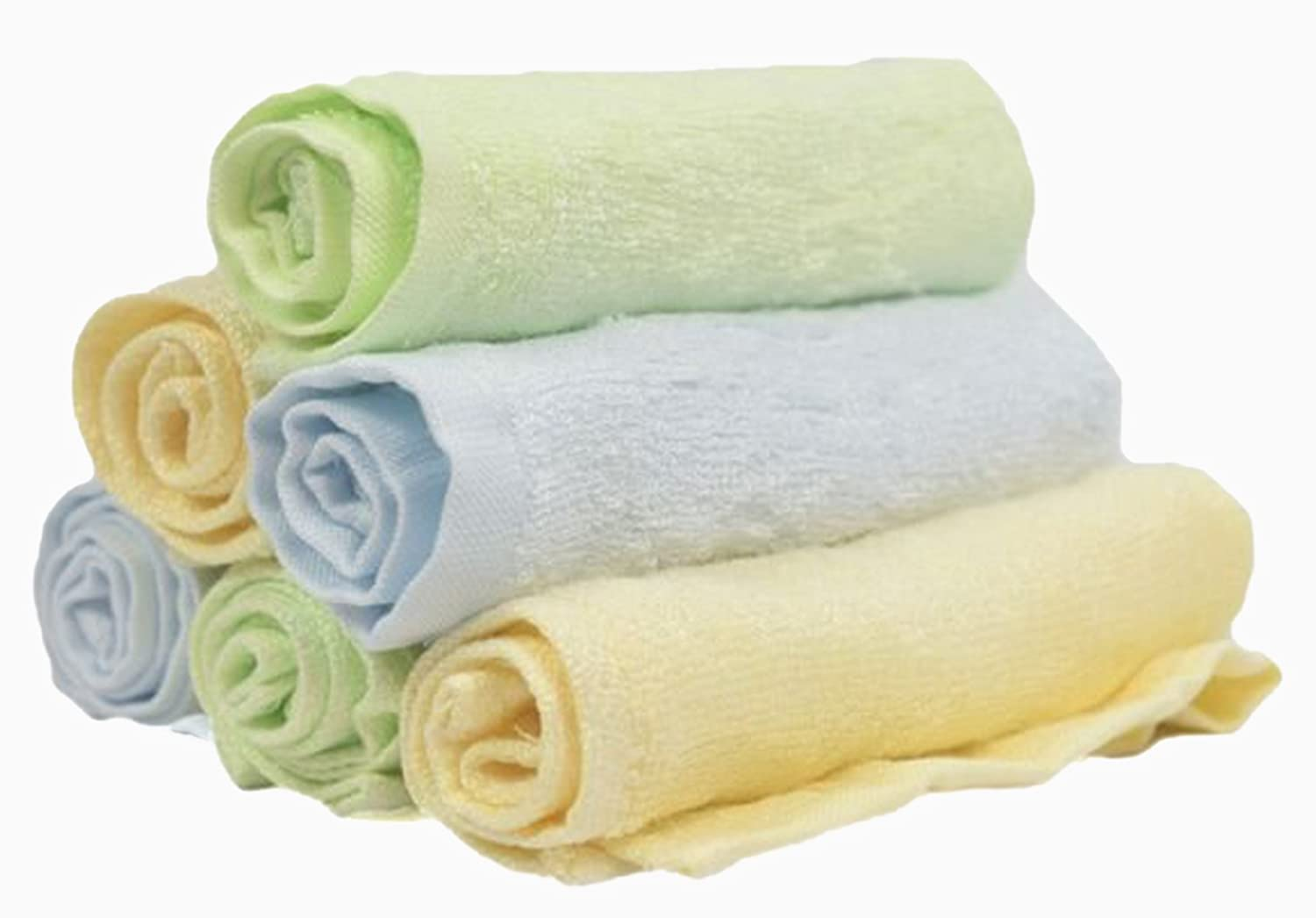 """Best Bamboo Baby Washcloths Luxuriously Soft Natural Organic Hypoallergenic Towels For Bath, Newborn Girls or Boys Face And Sensitive Skin Perfect Shower Gift Set Or Baby Registry 6 Pack 10"""" x 10"""" Elite Brands Worldwide"""