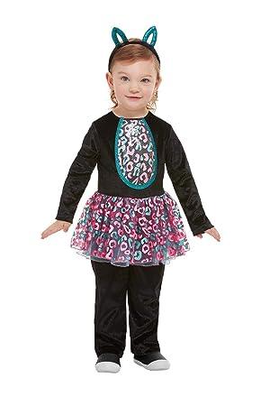 Smiffys 61128T1 - Disfraz de gato para niña, color negro, para ...