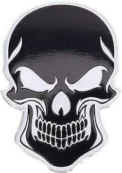3d Metall Skull Totenkopf Sticker Logo Emblem Badge Elektronik