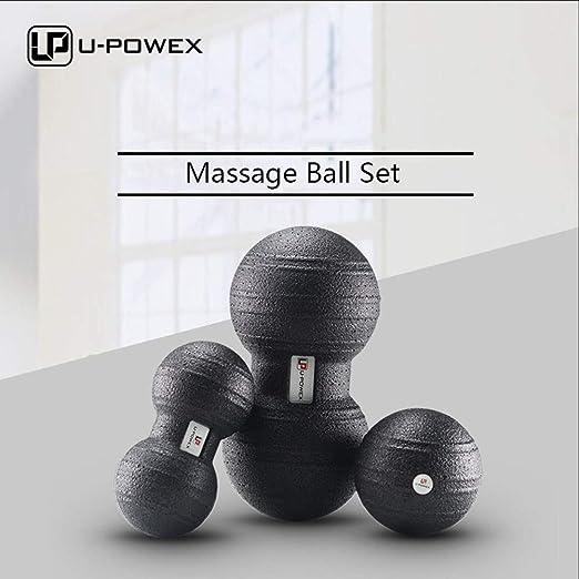 U-POWEX Bolas de Masaje Bola de Masaje Miofascial y Muscular Set 3 ...