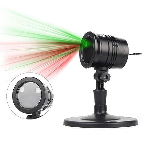 Proiettore Luci Natalizie Per Interno.Led Proiettore Luci Natale Proiettore Lampada Telecomando Ip65 Impermeabile Esterno Interno Rotazione Di Proiettore Luci Per Festivita Decorazione