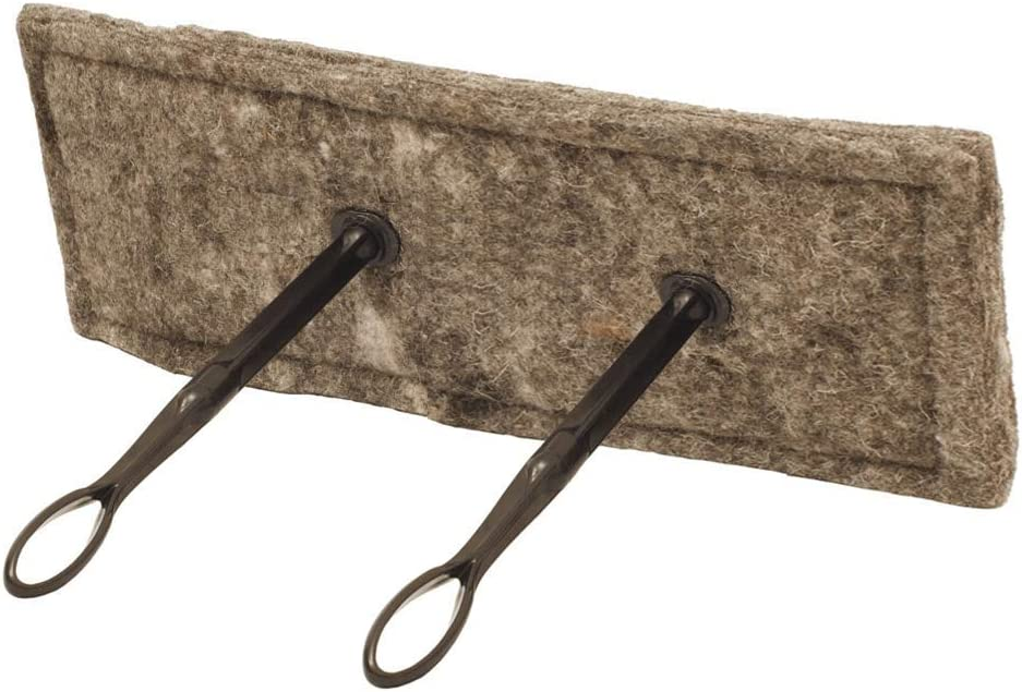 "Flueblocker 8""x24"" Rectangle Chimney Sheep Wool Wood Stove and Fireplace Draft Stopper Plug Damper"