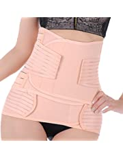 EQMUMBABY Postpartum Recovery Abdomen and Pelvis Slimming Shaper Breathable BeltS 2 Combos - Size L