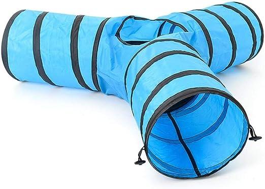 FoggDanieler Túneles para Gatos,Artículos para Gatos,Tubos y túneles para Animales pequeños,Juguetes Gato,Juguetes Gatos interactivos,Cat House,Gatos Accesorios,Conejos,Túneles,Azul: Amazon.es: Productos para mascotas