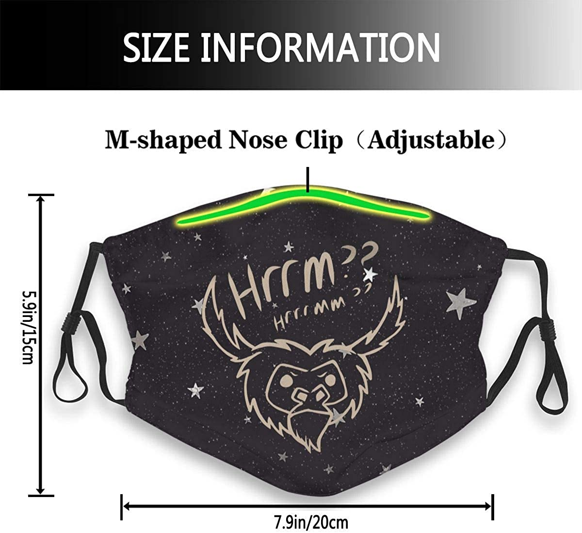 Dont Starve Together Cover Hanging Ear Scarf Balaclavas-Black Newpants Unisex Face Cover Mouth Nose Protection Beefalo