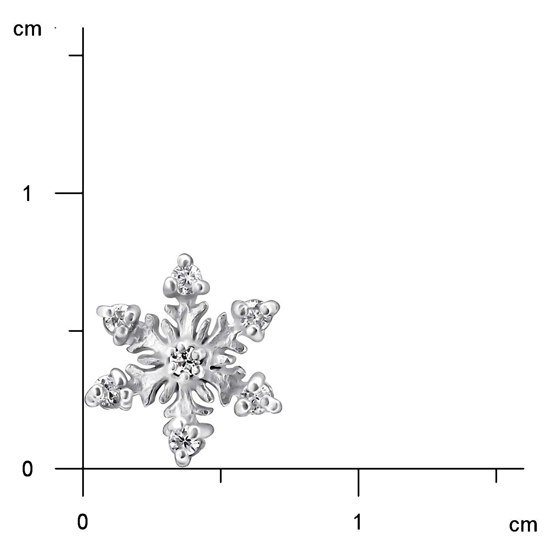 JAYARE Boucles doreilles Enfants flocon de neige argent sterling 925 Oxyde de Zirconium clou doreilles fille
