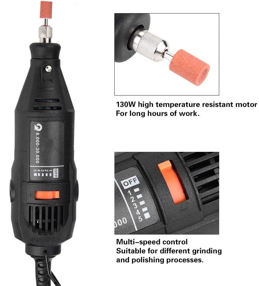 UE Pulidora el/éctrica 130W Amoladora de taladro el/éctrico Pulidora Rectificadora Pulidora Herramienta rotativa