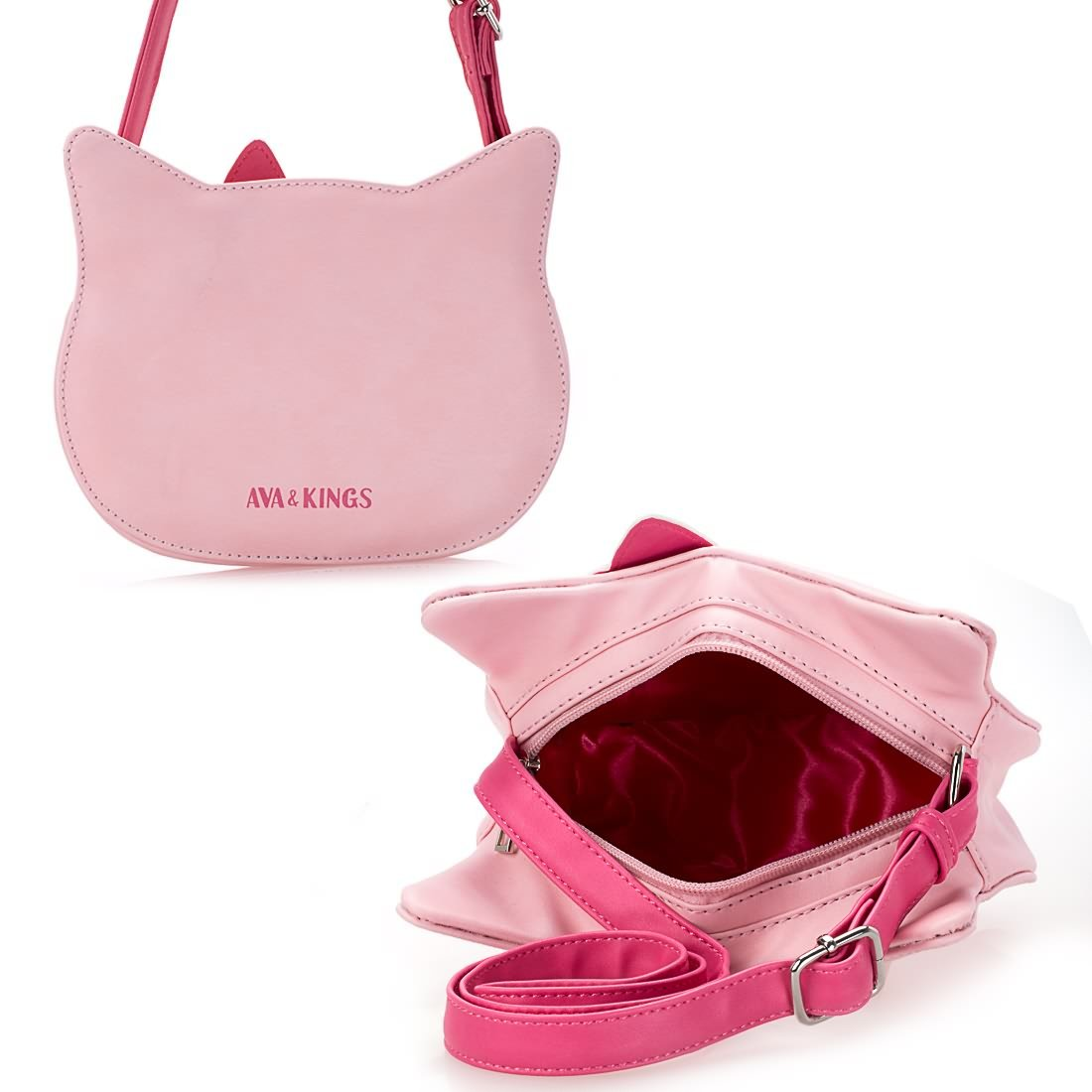 4e396d1fc462 Ava   Kings Little Girl Pink Faux Leather Fun Design Cat Shaped Purse   Amazon.ca  Shoes   Handbags