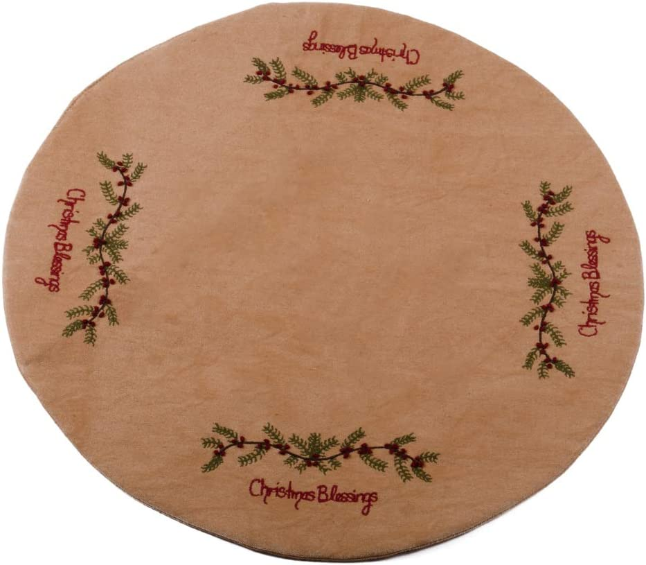 Home Collections by Raghu Tea Dyed Christmas Blessings Candle Mat