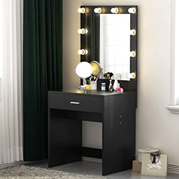 Amazoncom Tribesigns Vanity Set With Lighted Mirror Makeup Vanity