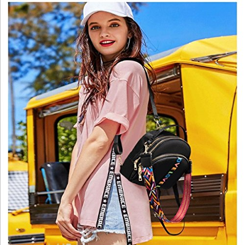 mignon Sac QI bandoulière à tourisme femelle Noir de mignon Noir à superbe achats dos Couleur mode sac de DEI mini Oqd85q