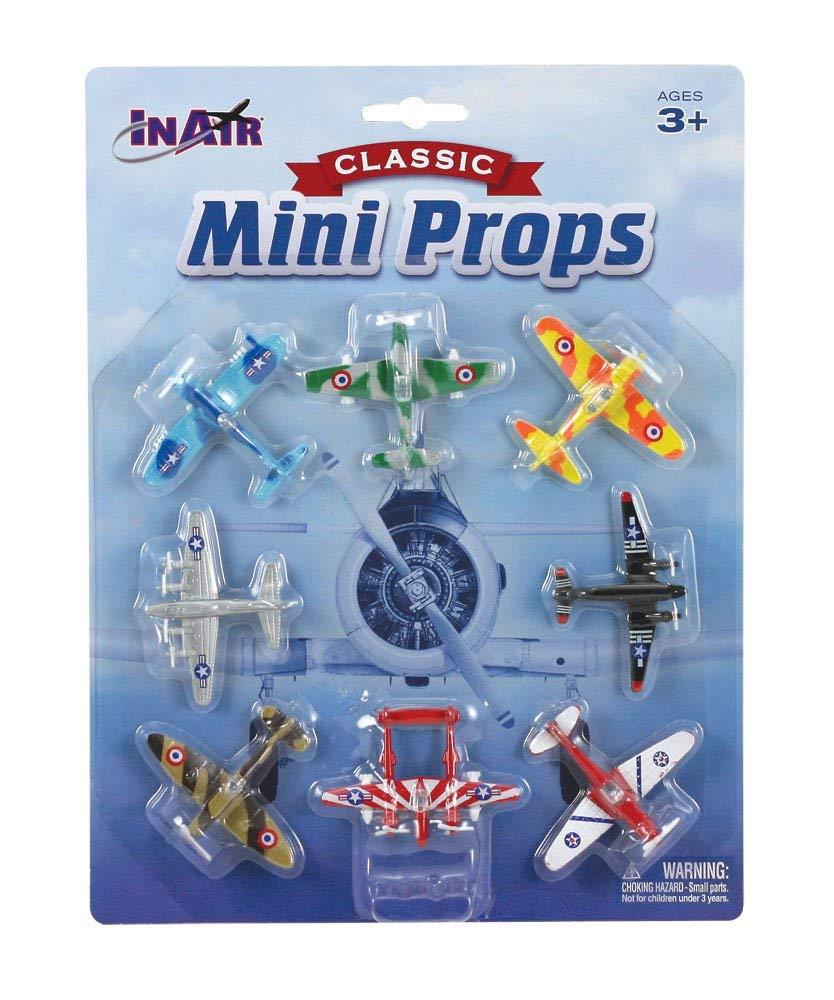 InAir Classic Mini Props Diecast Planes - 8 Piece Set