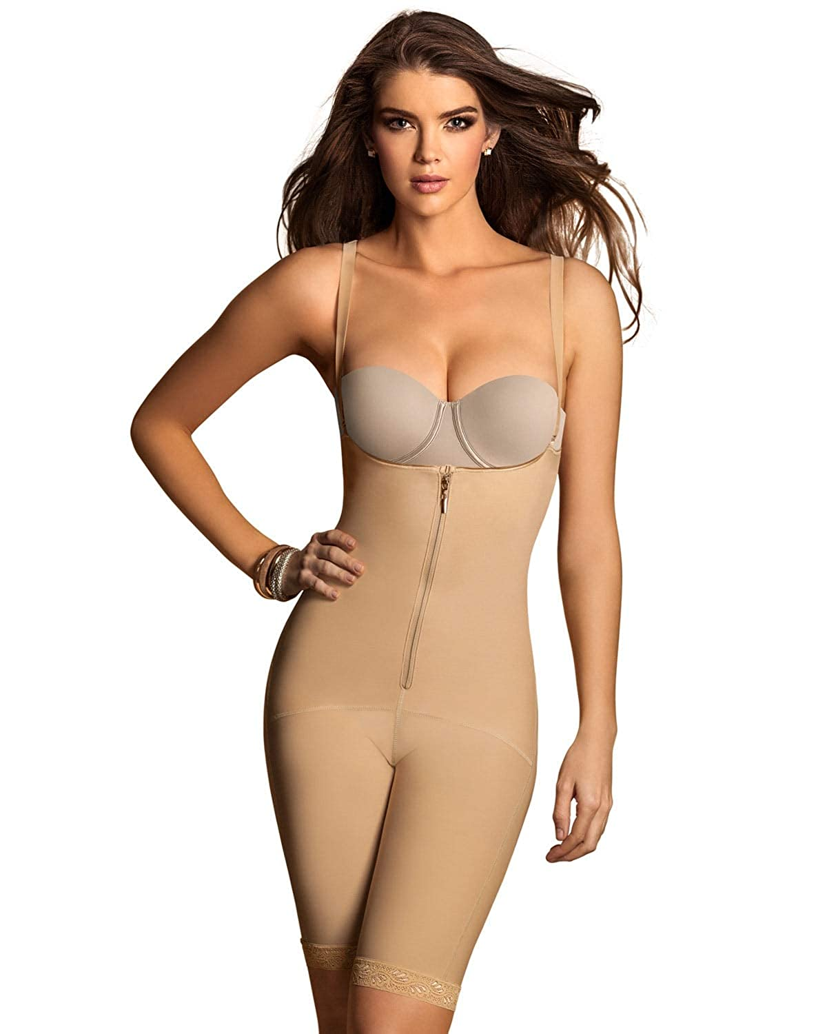 Leonisa Women's Mid-Thigh Firm Compression Body Shaper Slimming Shapewear