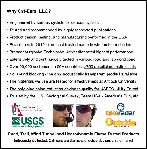 Cat-Ears New AirStreamz Slim Cycling Wind Noise Reducer by Cat-Ears (Image #6)