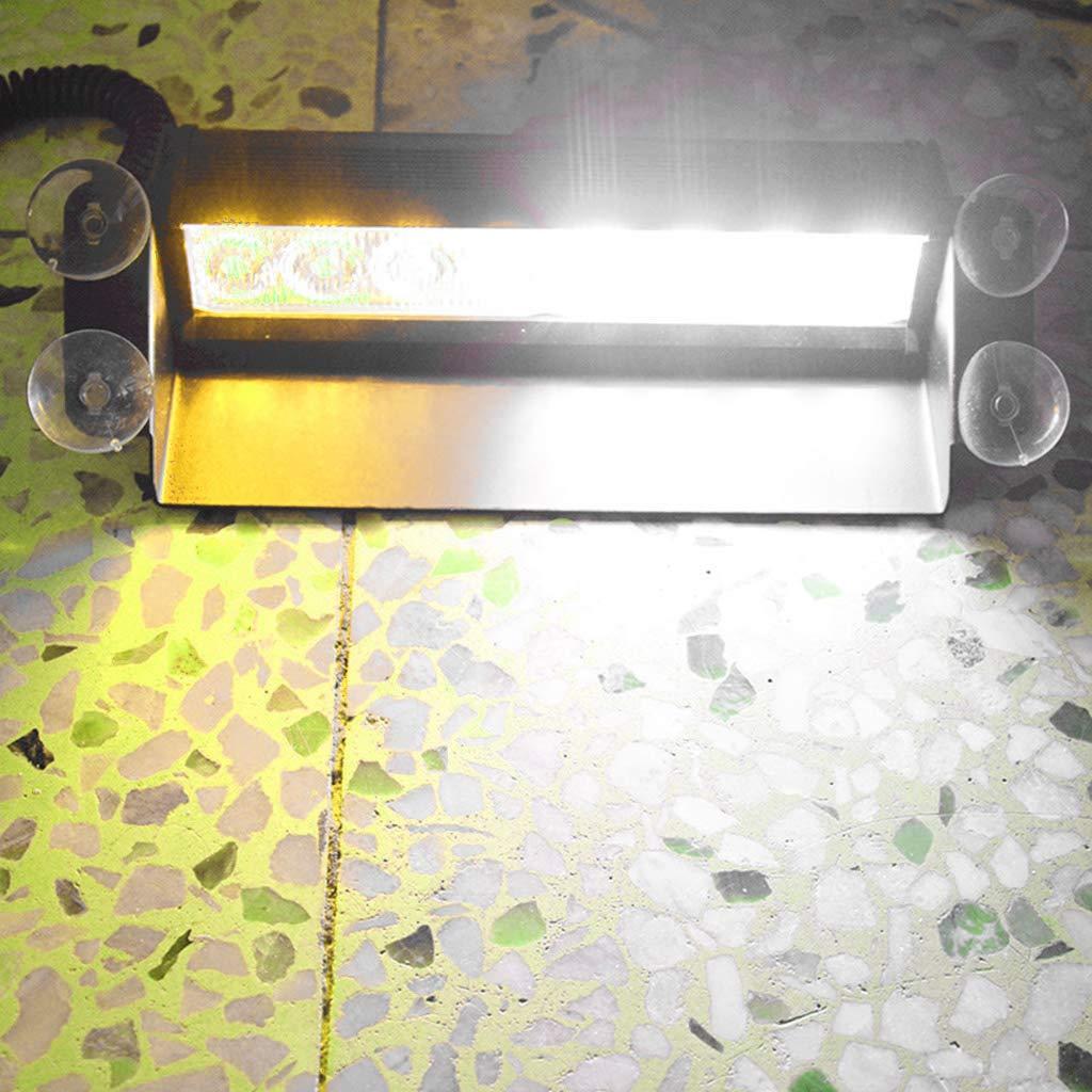 ZUIMEI Car Truck Emergency Flasher Dash Strobe Warning Light Day Running Flash Led Police Lights 8 LEDs 3 Flashing Modes 12V