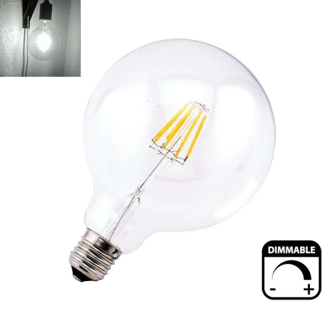 Bonlux vintage dimmable led filament bulb g40 8w led light bulb bonlux vintage dimmable led filament bulb g40 8w led light bulb g125 medium screw e26 base clear daylight 6000k led edison bulb 75 watt incandescent audiocablefo