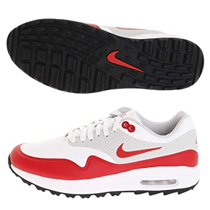 finest selection e3a85 29a85 Nike Air Max 1 G Spikeless Golf Shoes 2019 White University Red Neutral Gray