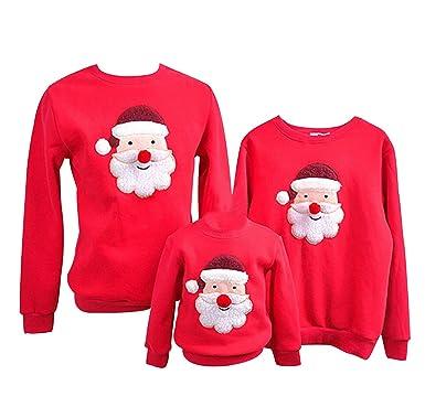 22840a7f662ba Pull Noel Famille Pulls De Noël Homme Enfant Garçon Fille Sweat Shirt Moche  Pull Over Renne
