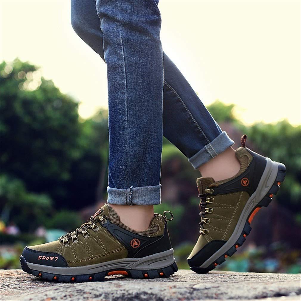 YAN Männer Schuhe Schuhe Schuhe Mesh Outdoor Wanderschuhe Anti-Punktion Wanderschuhe Schnürung Gummisohle Rutschfeste Athletische Laufschuhe (Farbe   B, Größe   44) 1c6af0