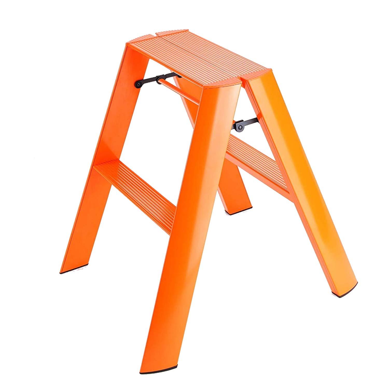 Swell Hasegawa Ladders Lucano Step Stool Orange Cjindustries Chair Design For Home Cjindustriesco